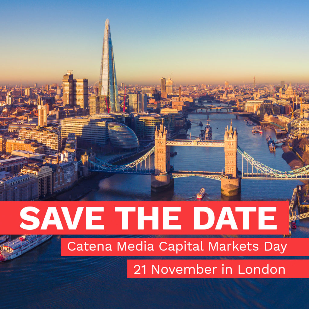 Catena Media Capital Markets Day – London 21 Nov 2018