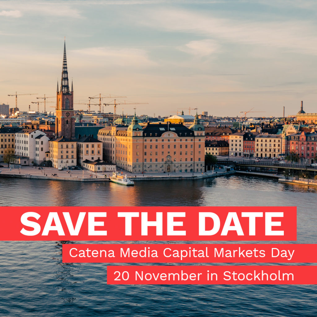 Catena Media Capital Markets Day – Stockholm 20 Nov 2018